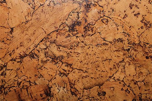 Cork flooring up close