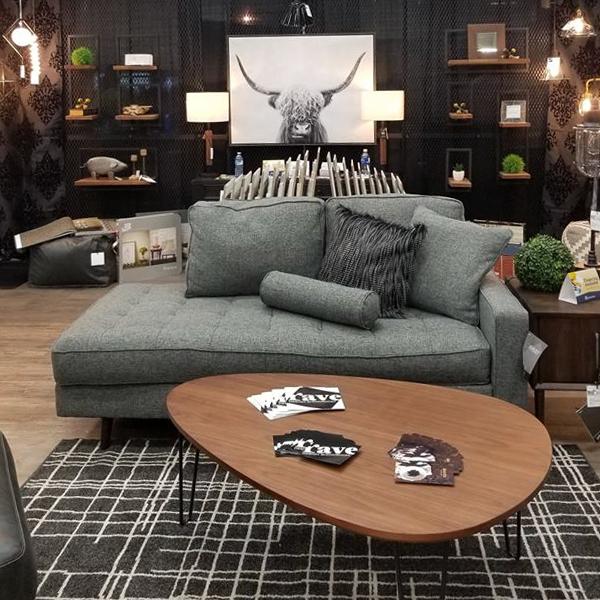 Living area display with lighting